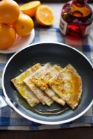 Orange and Grand Marnier pancakes
