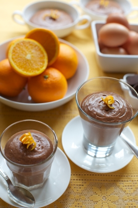 Dark chocolate and orange mousse